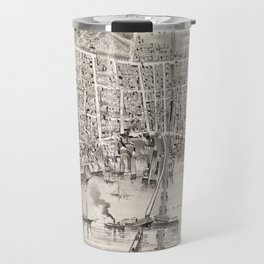 Vintage Pictorial Map of Newburyport MA (1894) Travel Mug