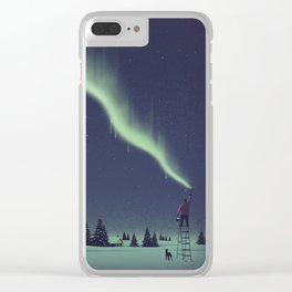 Winter Painting Clear iPhone Case