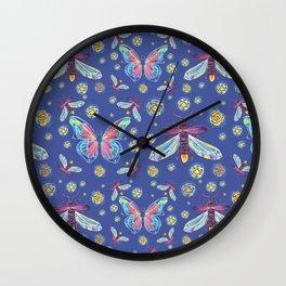 Butterflies and Fireflies Wall Clock
