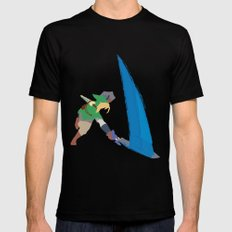 Link Black SMALL Mens Fitted Tee