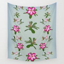 Desert Rose and Hummingbird Patterns Wall Tapestry
