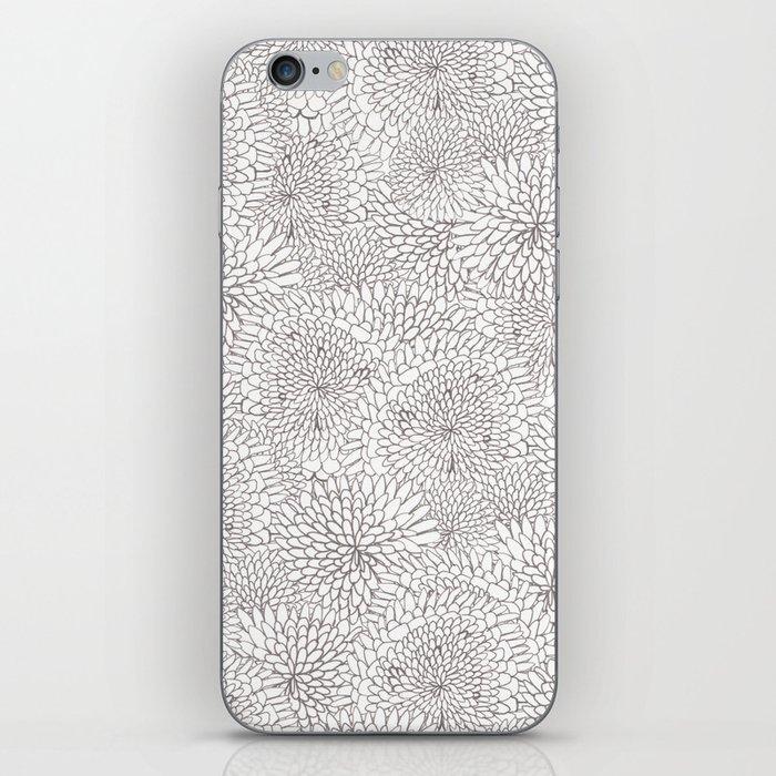 Flowers in lines iPhone Skin