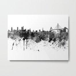 Hamburg skyline in black watercolor Metal Print