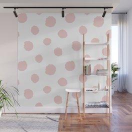 Pink dots Wall Mural