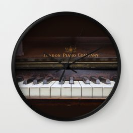 Piano keys Old antique vintage music instrument Wall Clock