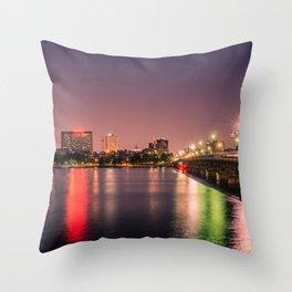 Harvard Bridge Throw Pillow