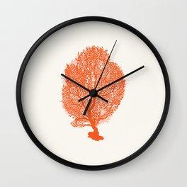 AFE Fan Coral Wall Clock