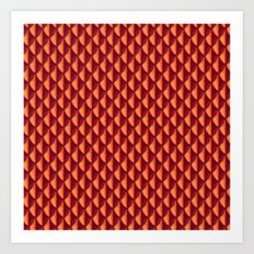 Dragon Scales Pattern - Red Art Print