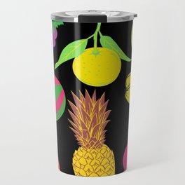 Fruit | Black Background  Travel Mug