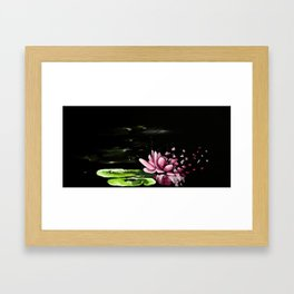 Exploding waterlily Framed Art Print