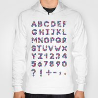 font Hoodies featuring Pills Font by Mnk Crew