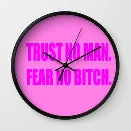 Trust No Man Wall Clock