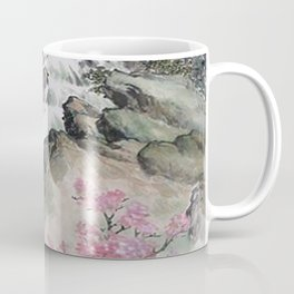 WATERFALLS AND MOUNTAIN LANDSCAPE Coffee Mug