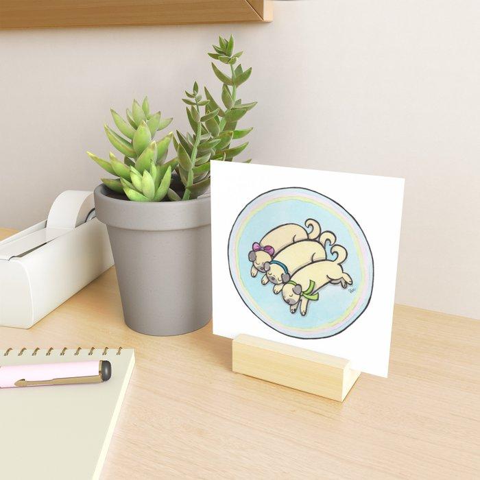 Snug as a Pug on a Rug Mini Art Print