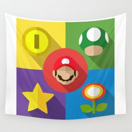 Super Mario flat Wall Tapestry