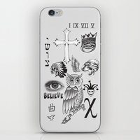 tattoos iPhone & iPod Skins featuring Justin tattoos by The Bieber Shop!
