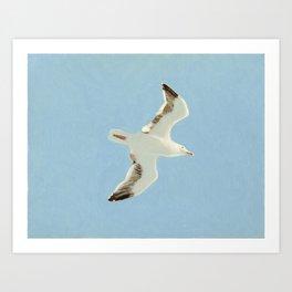 Sky Blue Sky - A Art Print