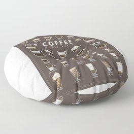 Coffee Chart Floor Pillow