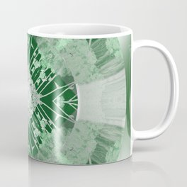 Microchip Mandala in Green Coffee Mug