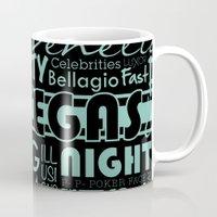 las vegas Mugs featuring Las Vegas by Chelsea Dianne Lott