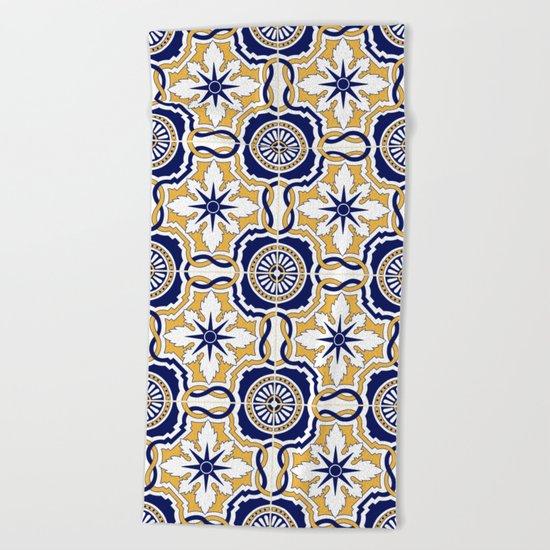 Portuguese Tiles Beach Towel