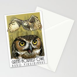 Great-Horned Owl Stationery Cards