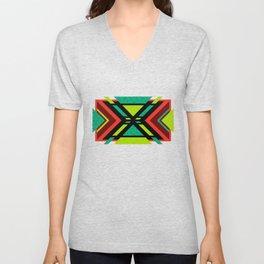Aztec Chilli (geometric pattern) Unisex V-Neck