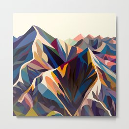 Mountains original Metal Print