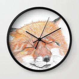 Fox Dreams Wall Clock