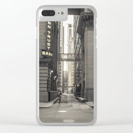 Alley light Clear iPhone Case