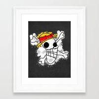 luffy Framed Art Prints featuring Luffy Laboon by rKrovs
