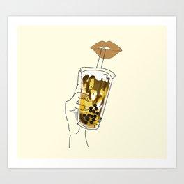 Brown Sugar Boba Art Print