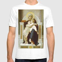 William-Adolphe Bouguereau - La Vierge, L'Enfant Jésus et Saint Jean-Baptiste T-shirt