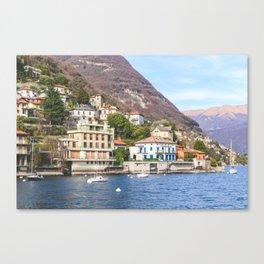 Hillside Villas at Lake Como Canvas Print
