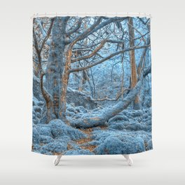 Sapphire Forest Shower Curtain