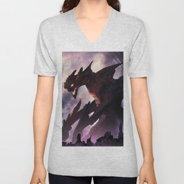 Marvelous Fearsome Giant Titan Fantasy Monster Dueling Brave Warrior Ultra HD Unisex V-Neck