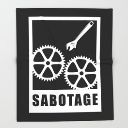 Sabotage Throw Blanket