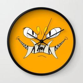 Yellow-Orange Monster Wall Clock