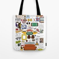 collage Tote Bags featuring Collage by Loverly Prints