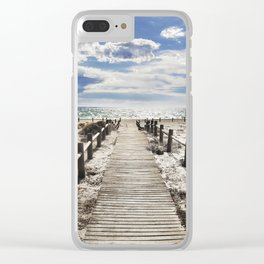 """To the beach..."" Cabo de Gata Clear iPhone Case"