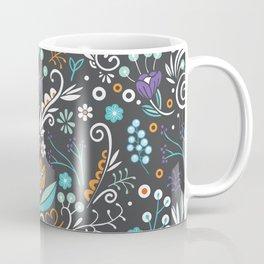 Flower circle pattern, brown Coffee Mug
