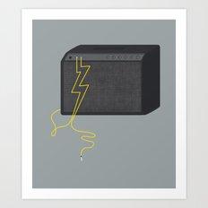 Electric/Acoustic Lightning Art Print