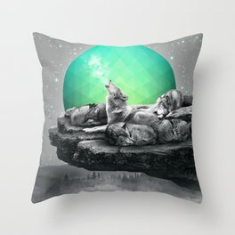 Echoes of a Lullaby / Geometric Moon Throw Pillow