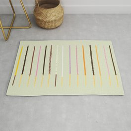 21 flavors of pocky - matcha green Rug