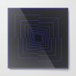 //BLUE Metal Print