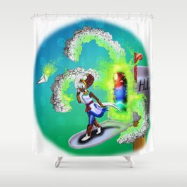 Lovecraft Cuties Set 01 : Nykki The Crawling Chaos Shower Curtain