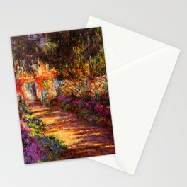Garden Path at Giverny - Claude Monet 1902 Stationery Cards
