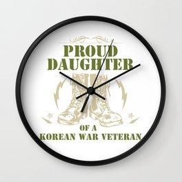 Proud Daughter Of a Korean War Veteran Wall Clock