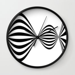 Fractal Wave Abstract Lines Wall Clock