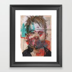 Thom Yorke by Leo Tezcucano Framed Art Print